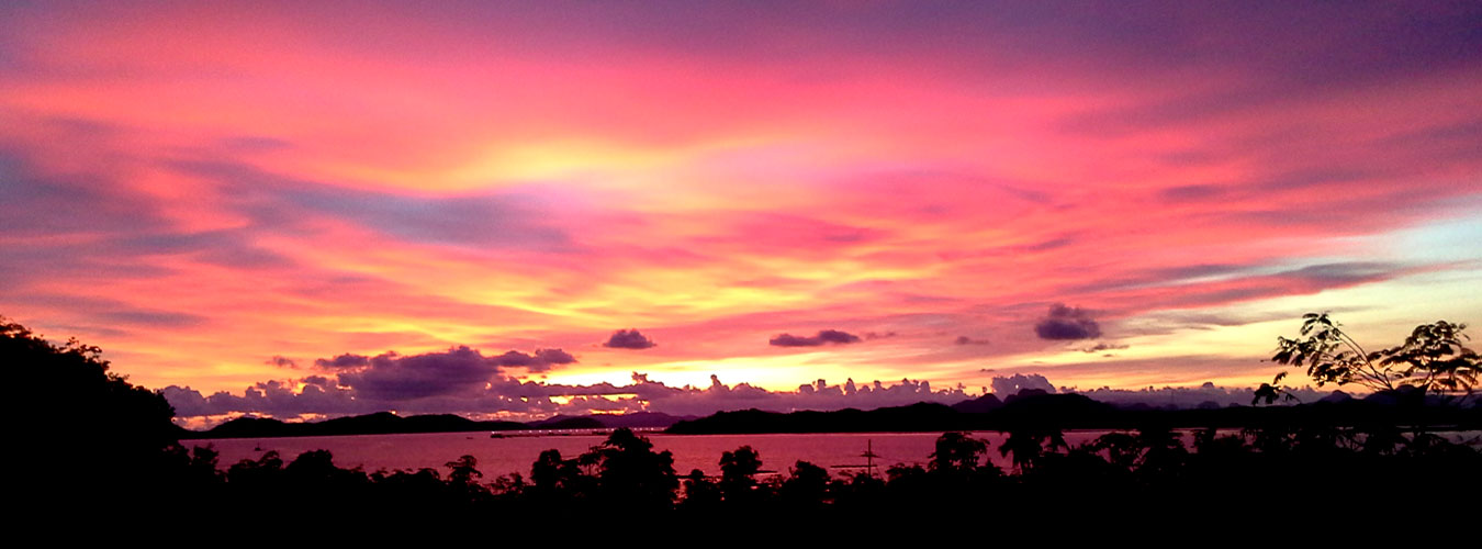 Thailand treehouse holidays in Thailand wonderful sunset